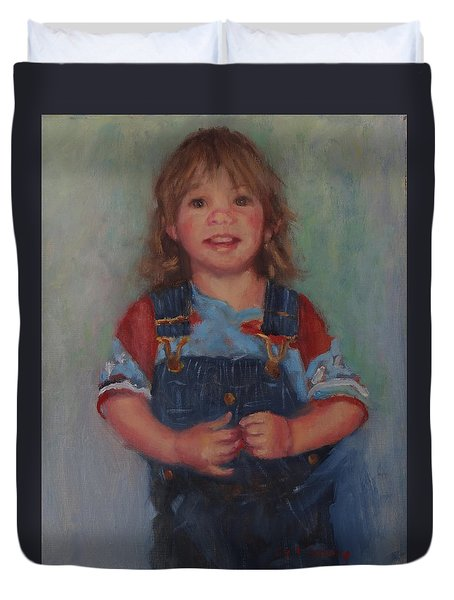 Duvet Cover featuring the painting Anna by Carol Berning