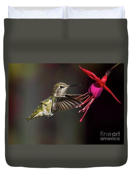 Anna Juvenile Hummingbird Duvet Cover