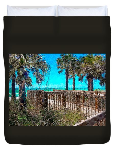 Anna Maria Boardwalk Access Duvet Cover
