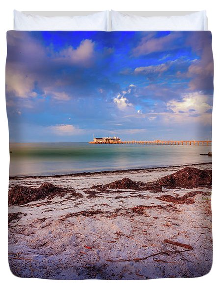 Anna Maria City Pier Duvet Cover