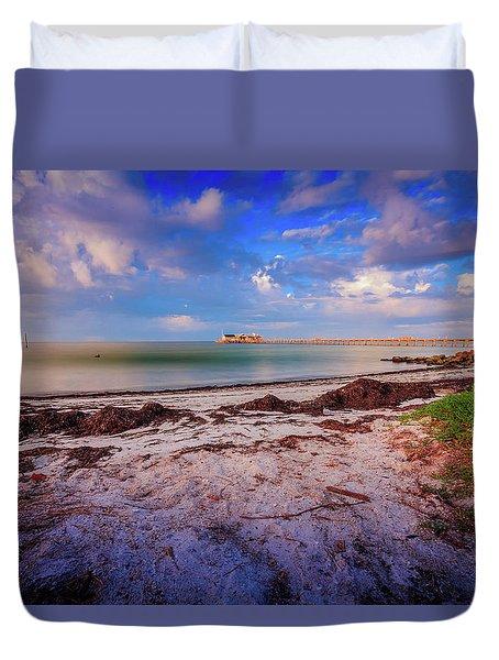 Anna Maria City Pier Duvet Cover