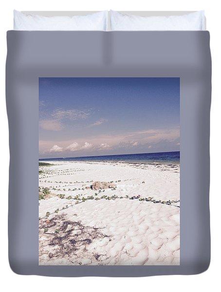 Anna Maria Island Beyond The White Sand Duvet Cover by Jean Marie Maggi
