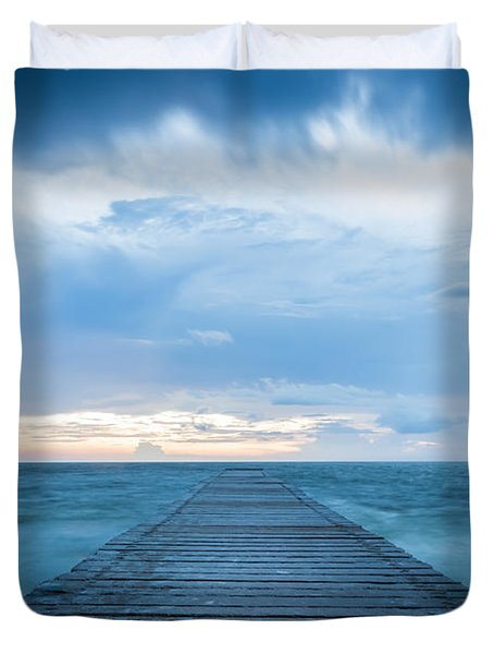 Anna Maria Island Pier Duvet Cover