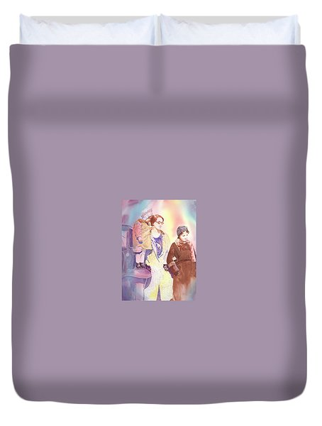 Anna Nation And Her Girls, 1932      Duvet Cover