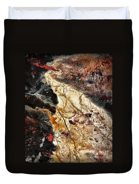 Duvet Cover featuring the photograph Anna River by Walt Foegelle
