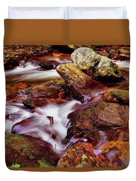 Anna Ruby Falls - Smith Creek 006 Duvet Cover