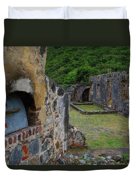 Duvet Cover featuring the photograph Annaberg Sugar Mill Ruins At U.s. Virgin Islands National Park by Jetson Nguyen