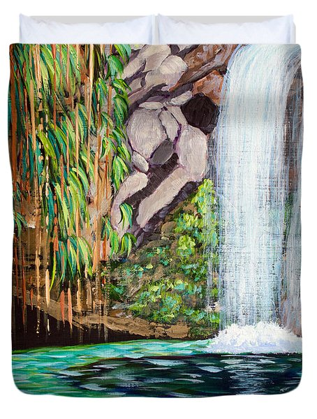 Annandale Waterfall Duvet Cover