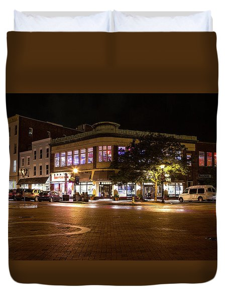 Annapolis At Night Duvet Cover