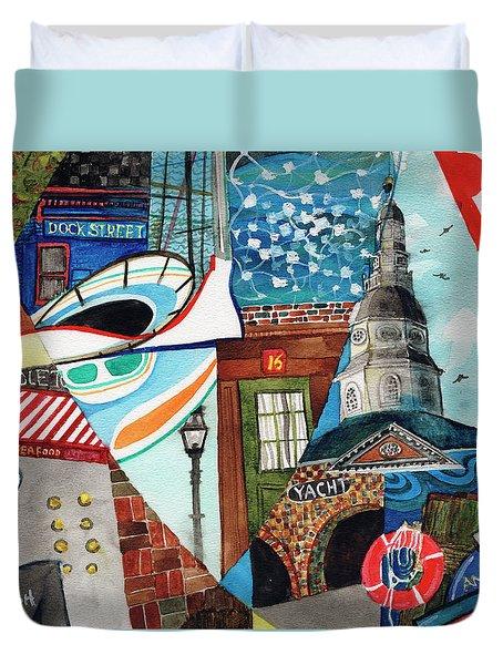 Annapolis Dock Dine Assemble Duvet Cover