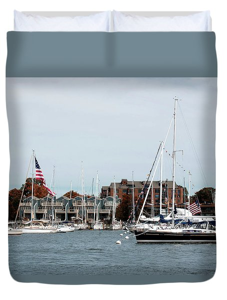 Annapolis Harbor Duvet Cover
