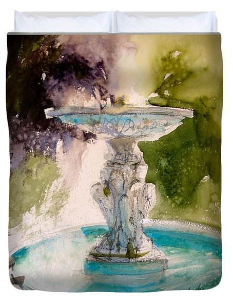 Anna's Fountain Duvet Cover by Sandra Strohschein