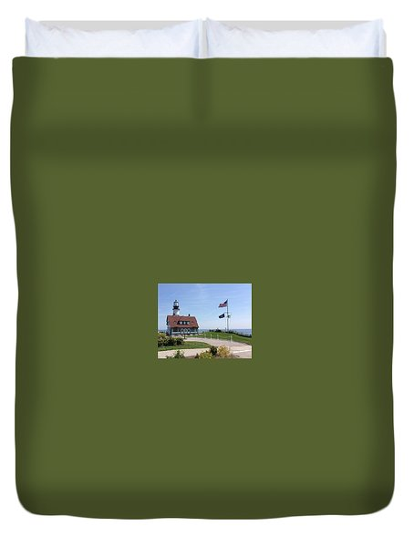 Portland Lighthouse ----- Edit Duvet Cover