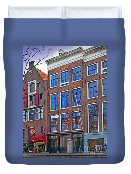 Anne Frank Home In Amsterdam Duvet Cover by Al Bourassa