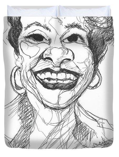 Annette Caricature Duvet Cover