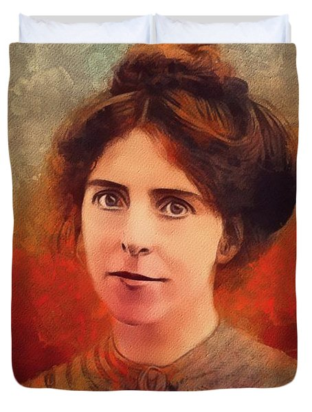 Annie Kenney, Suffragette Duvet Cover