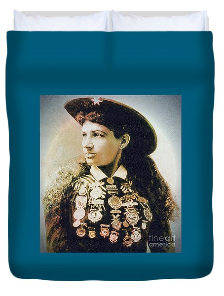 Annie Oakley - Shooting Legend Duvet Cover