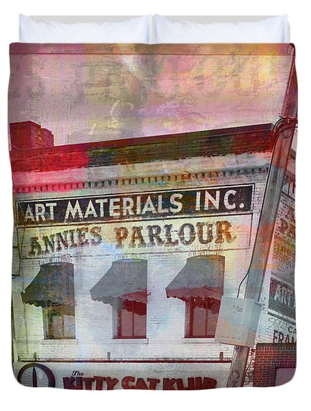 Duvet Cover featuring the photograph Annie's Parlour  by Susan Stone