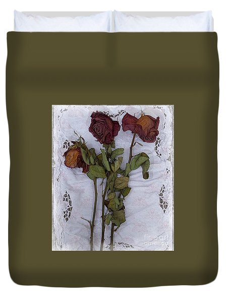 Anniversary Roses Duvet Cover by Alexis Rotella