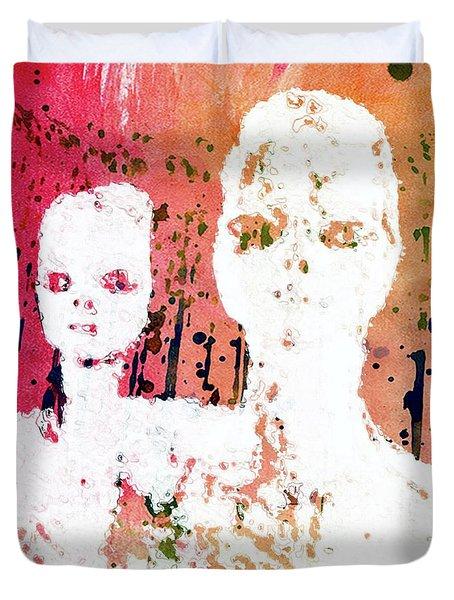 Annunaki - The Shining Ones By Raphael Terra Duvet Cover