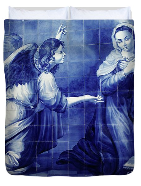 Annunciation Duvet Cover by Gaspar Avila