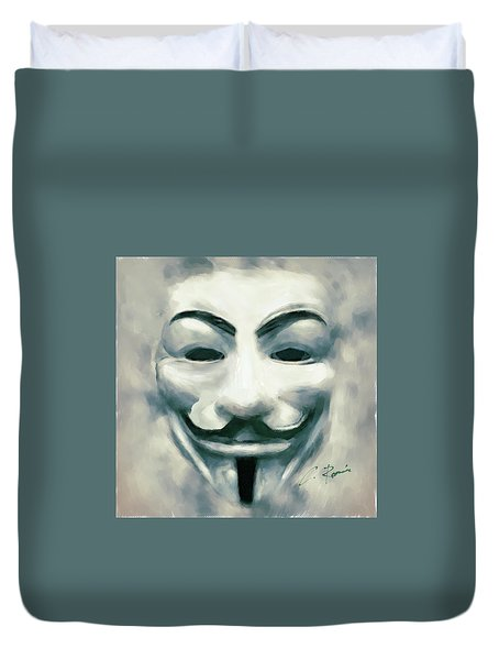 Anonymous Duvet Cover