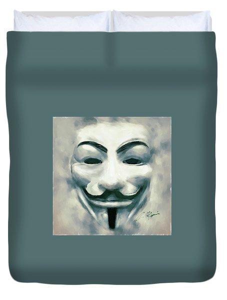 Anonymous Duvet Cover