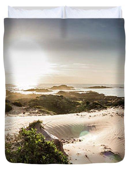 Another Beach Sunset Duvet Cover