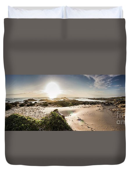 Another Beach Sunset Duvet Cover