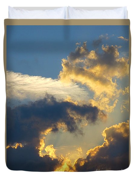 Another Beautiful Grouping Of Florida Clouds At Sunset.  Duvet Cover