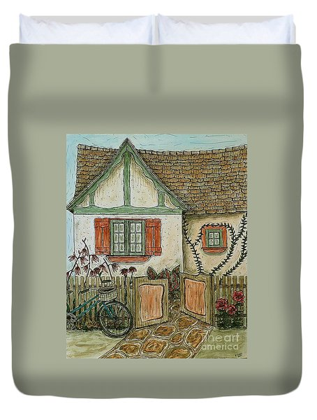 Another Crooked Cottage Duvet Cover