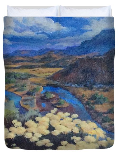 Another Day Above Rio Chama Duvet Cover