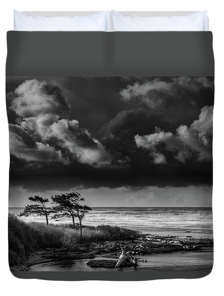 Duvet Cover featuring the photograph Another Day At Kalaloch Beach by Dan Mihai