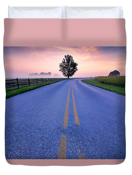 Another Gettysburg Morning Duvet Cover by Craig Szymanski