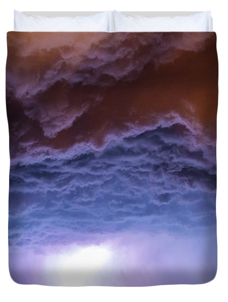 Another Impressive Nebraska Night Thunderstorm 007 Duvet Cover