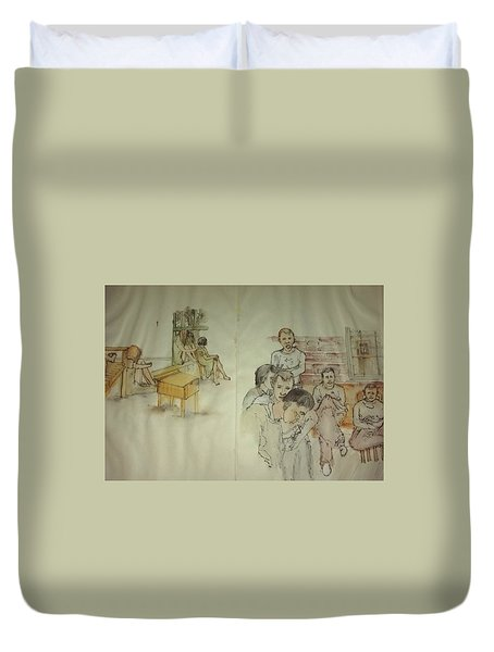 Another Look At Mental Illness Album Duvet Cover