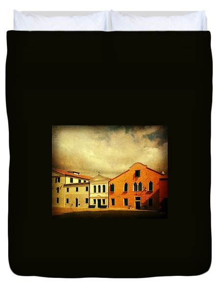 Duvet Cover featuring the photograph Another Malamocco Day by Anne Kotan