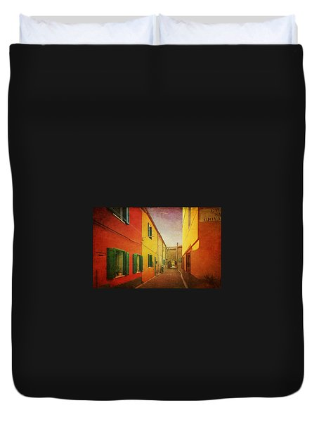 Duvet Cover featuring the photograph Another Morning In Malamocco by Anne Kotan