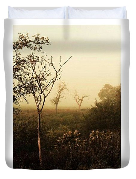 Another Morning  #autumn #morning Duvet Cover
