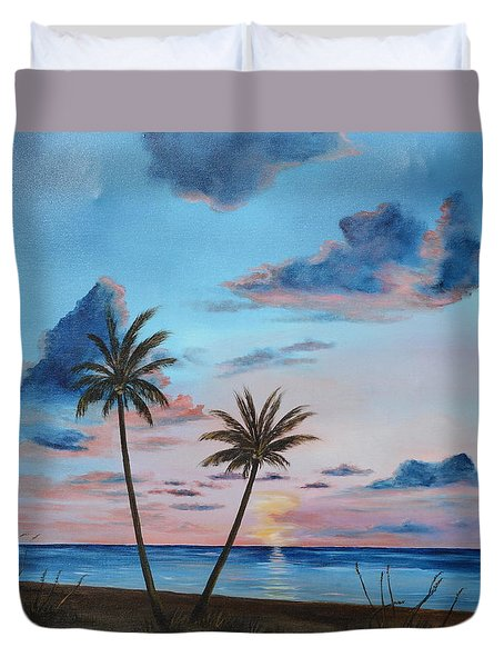 Another Paradise Sunset Duvet Cover
