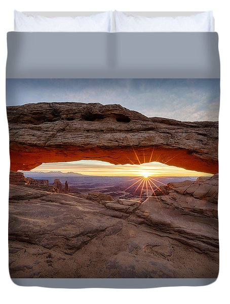 Another Sunrise At Mesa Arch Duvet Cover