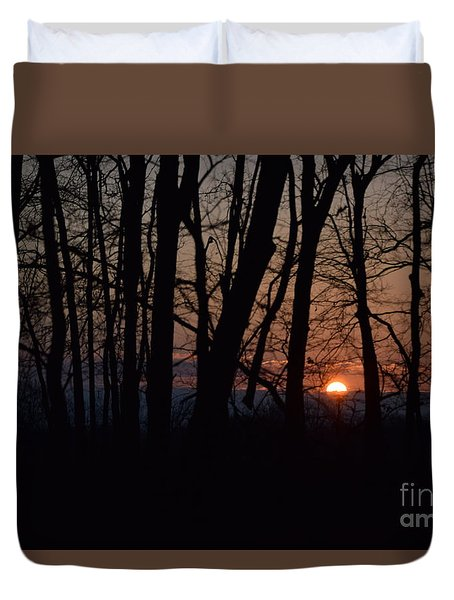 Another Sunrise In The Woods Duvet Cover