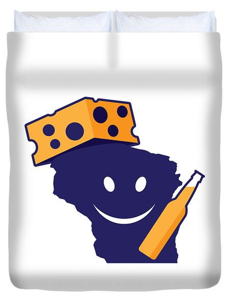 Another Wisconsin Tailgator Duvet Cover