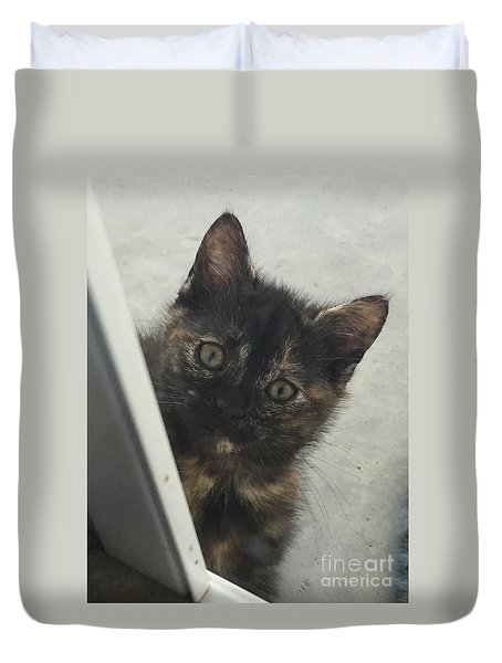 Answer The Door Duvet Cover
