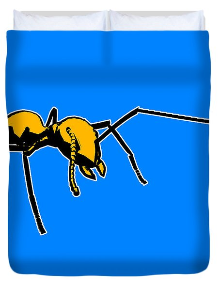 Ant Graphic  Duvet Cover by Pixel  Chimp
