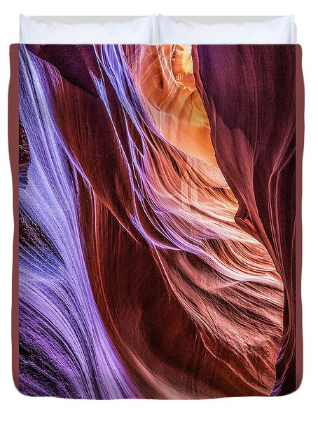 Antelope Canyon Air Glow Duvet Cover