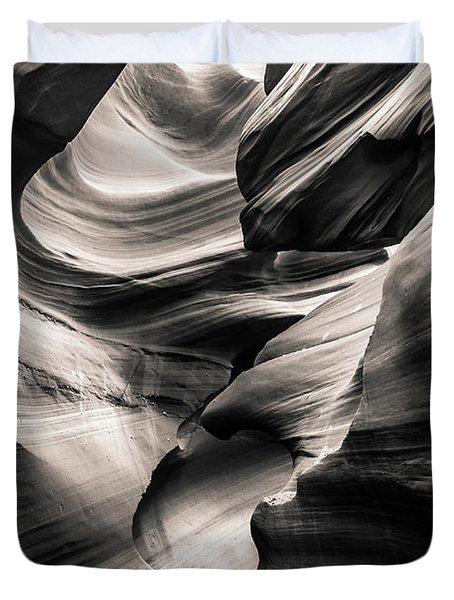 Antelope Canyon Bw Duvet Cover