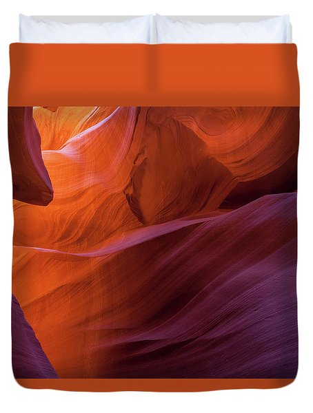 Antelope Canyon Fire Duvet Cover