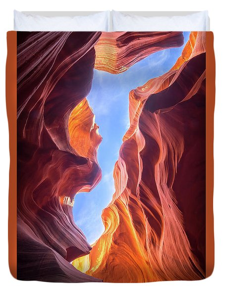 Antelope Canyon Duvet Cover by Serge Skiba