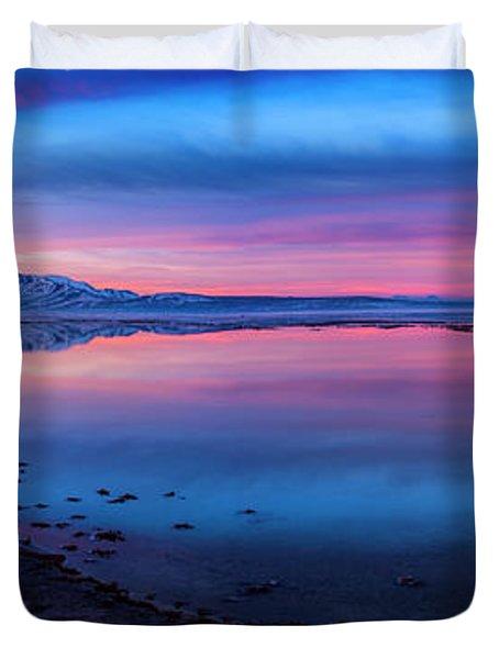 Antelope Island Sunrise Duvet Cover